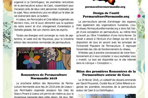 Bulletin  groupe Normandie : de nombreuses initiatives et rencontres permacoles