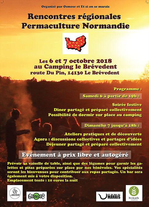 Rencontres Régionales permaculture Normandie 2018