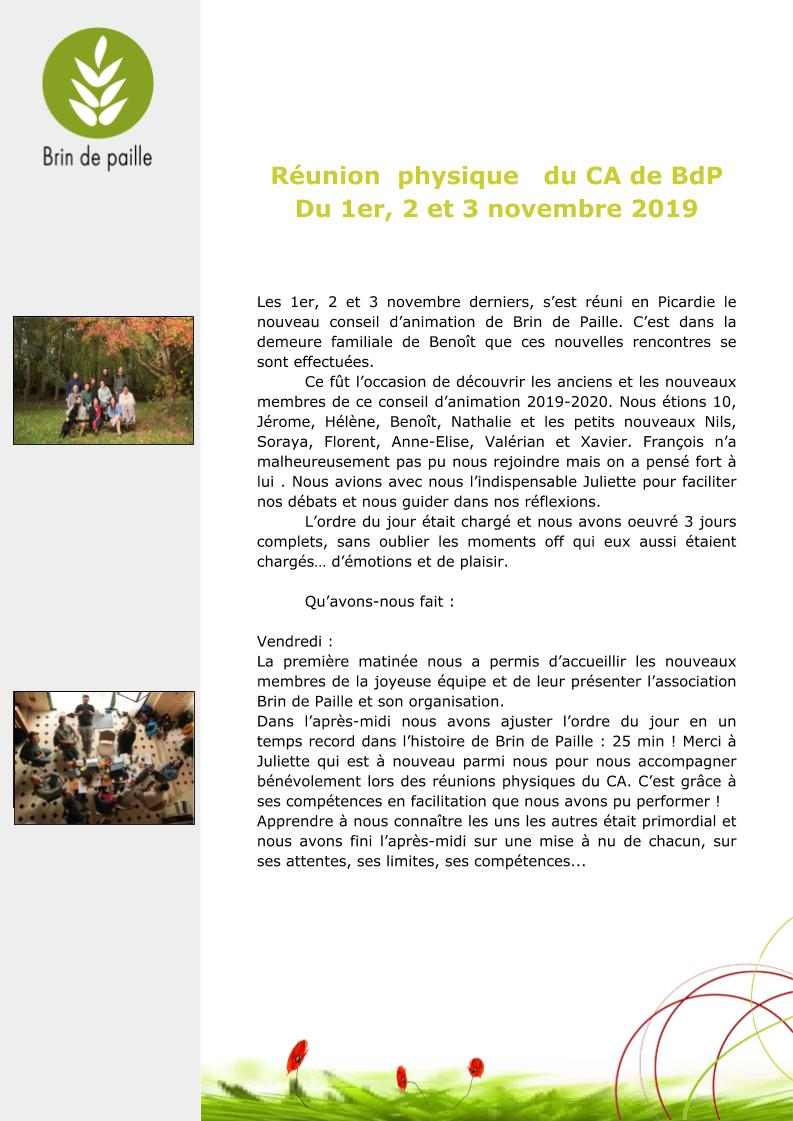 Article CA du 1-2-3 novembre 2019