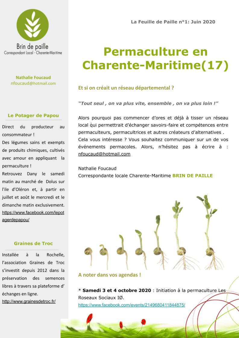 Feuille de Paille n° 1 - 1 juin 2020 Corloc Charente-Maritime (3)