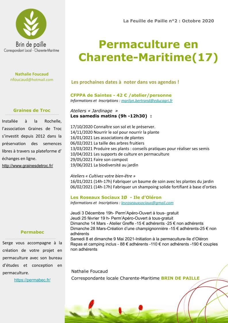 Feuille de Paille n° 2 - octobre 2020 Corloc Charente-Maritime p5