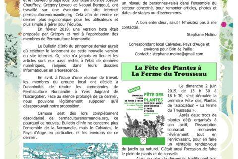 Bulletin Permaculture Calvados -Pays d'Auge et environs